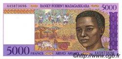 5000 Francs - 1000 Ariary MADAGASCAR  1994 P.78b NEUF
