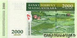10000 Francs - 2000 Ariary MADAGASCAR  1998 P.83 NEUF