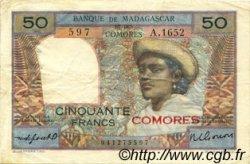 50 Francs COMORES  1963 P.02b TTB
