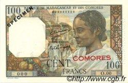 100 Francs COMORES  1963 P.03as pr.NEUF