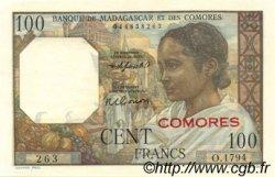 100 Francs COMORES  1963 P.03b pr.NEUF