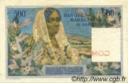500 Francs COMORES  1960 P.04a TTB