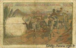 1000 Francs COMORES  1960 P.05a TB
