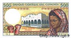 500 Francs COMORES  1986 P.10- pr.NEUF