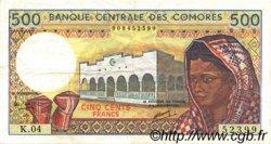 500 Francs COMORES  1986 P.10- TTB+