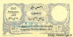 10 Rupees / 10 Roupies INDE FRANÇAISE  1919 P.02b SUP+
