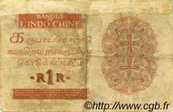 1 Rupee - 1 Roupie INDE FRANÇAISE  1923 P.004b pr.TB