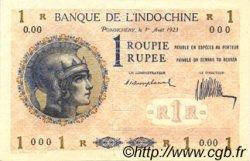1 Rupee - 1 Roupie INDE FRANÇAISE  1923 P.004bs SUP