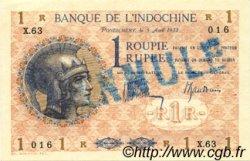 1 Rupee - 1 Roupie INDE FRANÇAISE  1932 P.004cs SPL