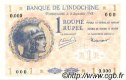 1 Rupee - 1 Roupie INDE FRANÇAISE  1945 P.004es NEUF