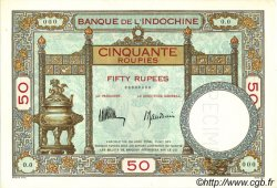 50 Roupies INDE FRANÇAISE  1936 P.007as pr.NEUF
