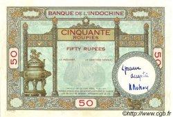 50 Roupies INDE FRANÇAISE  1936 P.007s SUP