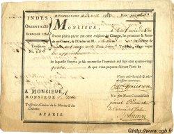253 Livres INDE FRANÇAISE  1784 P.-- TTB