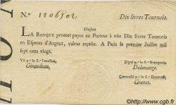 10 Livres Tournois typographié FRANCE  1720 Laf.093 TTB+