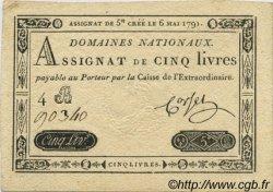 5 Livres FRANCE  1791 Laf.137 SUP