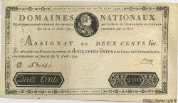 200 Livres FRANCE  1792 Laf.158 TTB