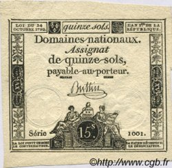 15 Sols FRANCE  1792 Laf.160 SPL