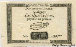 10 Livres FRANCE  1792 Laf.161a SPL
