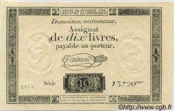 10 Livres FRANCE  1792 Laf.161b pr.NEUF