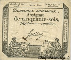 50 Sols FRANCE  1793 Laf.167b SUP