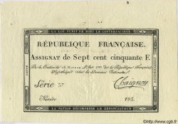 750 Francs FRANCE  1795 Laf.174a SUP