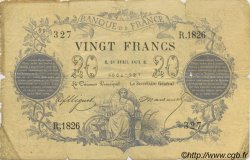 20 Francs 1871 FRANCE  1873 F.A46.03 B+
