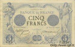 5 Francs NOIR FRANCE  1873 F.01.17 TTB+