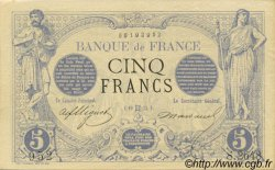 5 Francs NOIR FRANCE  1873 F.01.18 SUP