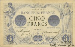 5 Francs NOIR FRANCE  1873 F.01.23 TTB+ à SUP