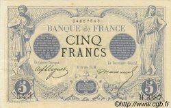 5 Francs NOIR FRANCE  1874 F.01.25 SPL