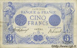 5 Francs BLEU FRANCE  1913 F.02.17 TB à TTB