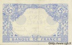 5 Francs BLEU FRANCE  1915 F.02.29 pr.SPL