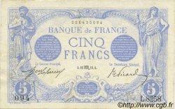 5 Francs BLEU FRANCE  1915 F.02.32 pr.SUP