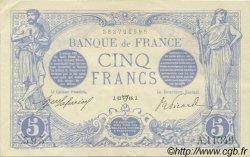 5 Francs BLEU FRANCE  1916 F.02.38 SUP à SPL