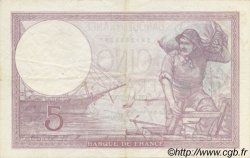5 Francs VIOLET modifié FRANCE  1939 F.04.04 SUP