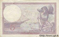5 Francs VIOLET modifié FRANCE  1939 F.04.11 TTB+