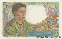 5 Francs BERGER FRANCE  1943 F.05.04 NEUF