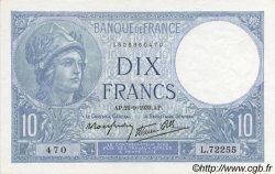 10 Francs MINERVE modifié FRANCE  1939 F.07.08 SPL