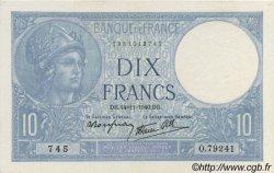 10 Francs MINERVE modifié FRANCE  1940 F.07.20 SPL