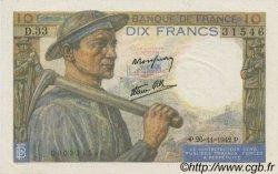 10 Francs MINEUR FRANCE  1942 F.08.06 pr.NEUF