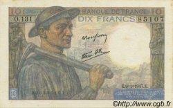 10 Francs MINEUR FRANCE  1947 F.08.17 SPL+