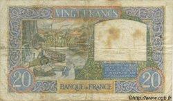 20 Francs SCIENCE ET TRAVAIL FRANCE  1939 F.12.01 pr.TB