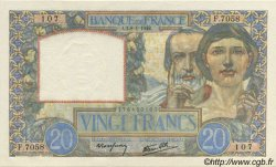 20 Francs SCIENCE ET TRAVAIL FRANCE  1942 F.12.21 NEUF