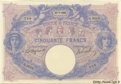 50 Francs BLEU ET ROSE FRANCE  1906 F.14.18 SUP+