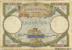 50 Francs LUC OLIVIER MERSON FRANCE  1929 F.15.03 B à TB
