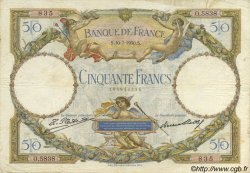 50 Francs LUC OLIVIER MERSON FRANCE  1930 F.15.04 TB