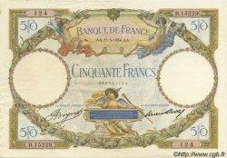 50 Francs LUC OLIVIER MERSON type modifié FRANCE  1934 F.16.05 SUP+