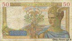 50 Francs CÉRÈS modifié FRANCE  1937 F.18.02 pr.TB