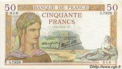 50 Francs CÉRÈS modifié FRANCE  1938 F.18.10 pr.NEUF
