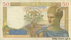 50 Francs CÉRÈS modifié FRANCE  1940 F.18.38 pr.SUP